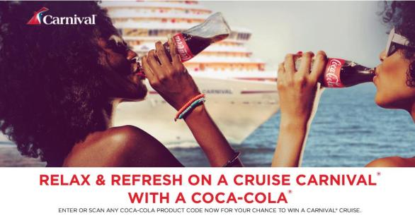 Coco cola - Carnival Cruise Line Sweepstakes | Participate and Chance to Win $1,500 USD Carnival Cruise Line Gift Card