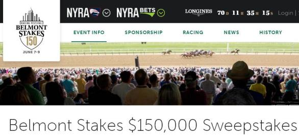 Belmont Stakes $150,000 Sweepstakes – Chance to Win A Trip to Elmont
