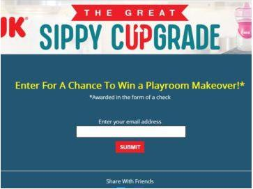 NUK Sippy Cup Sweepstakes – Win $4,999 Cash For A Playroom Makeover