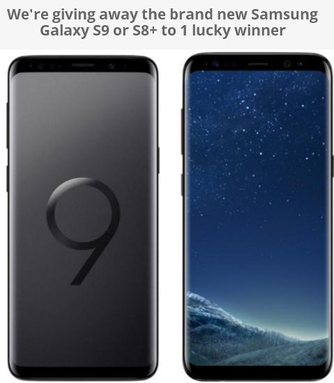 Technobezz Giveaway - Chance to Win Brand New Samsung Galaxy S9 or S8