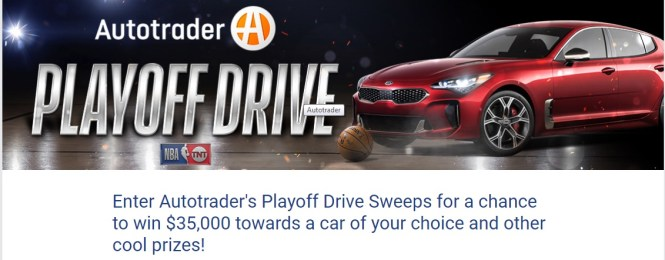 Autotrader NBA Playoff Drive Sweepstakes - Win a $35,000 Autotrader.com voucher