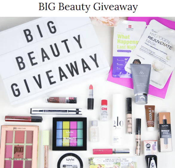 Big Beauty Giveaway