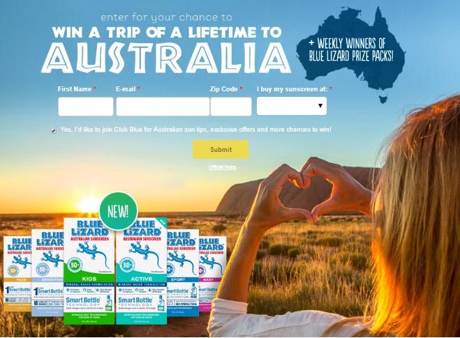 Blue Lizard Sunscreen Family Trip to Australia Sweepstakes - Win A Trip