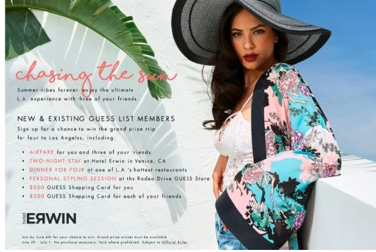 Chasing The Sun Sweepstakes - Win A Trip To Los Angeles, California
