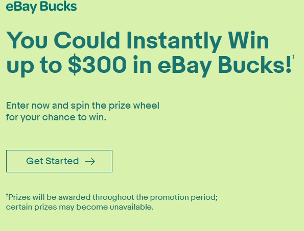 EBay Bucks Instant Win Game and Sweepstakes - Win Bucks of EBay