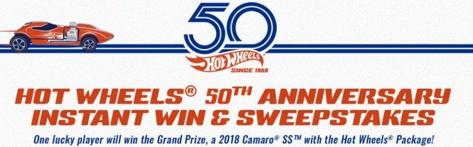 Hot Wheels 50th Anniversary Instant Win Game - Win A Hot Wheel Package