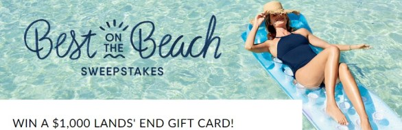 Lands End Best On The Beach Sweepstakes - Win A Gift Card