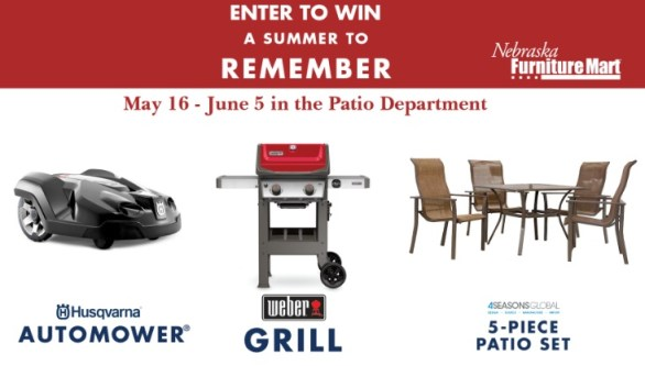 Nebraska Furniture Mart A Summer To Remember Contest - Win A Husqvarna Automower And More