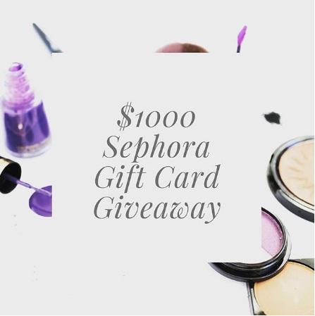 Sephora Gift Card Giveaway - Chance To Win Sephora Gift Card