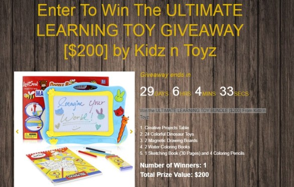 The Ultimate Learning Toy Giveaway - Win The Ultimate Learning Toy Bundle