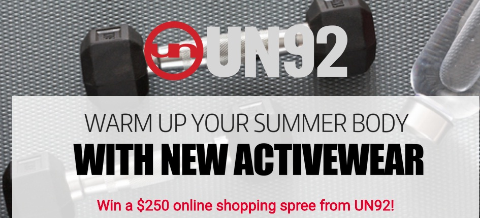 Warm Up Your Summer Body With New Activewear Sweepstakes