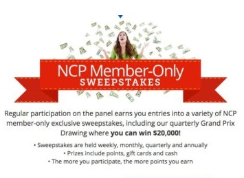 Win $20,000 For Grocery Shopping From NCP Sweepstakes - Win $20,000 Cash