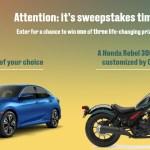2018 Honda Civic Tour Sweepstakes - Win A Honda Civic Coupe EX-L