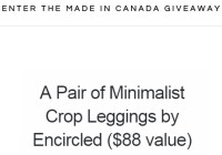 Encircled Made In Canada Giveaway - Win Minimalist Crop Leggings From Encircled