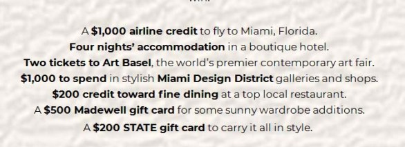 Go Places Miami Sweepstakes