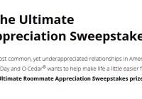 O-Cedar Ultimate Roommate Appreciation Sweepstakes