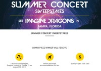 Pennzoil Summer Concert Sweepstakes - Win Tickets Of Dragons Concert In Tampa, FL