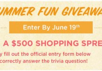 Shoe Mall Summer Fun Giveaway
