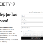 Society19 Trip For Two To Morocco Sweepstakes