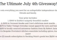 The Ultimate July 4th Giveaway - Win to Embla's Uniquely Beautiful Candles