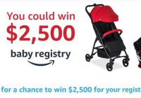 Amazon Baby Registry Britax Sweepstakes - Win $2,500 Amazon Gift Card