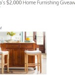 Bob Vila $2,000 Home Furnishing Giveaway - Win $1,000 Gift Card