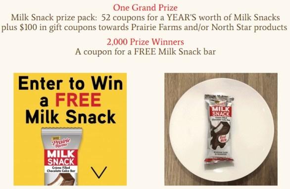 Prairie Farms Milk Snack Payback Sweepstakes