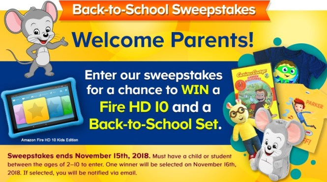 ABCmouse Back to School Sweepstakes