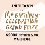 Esther & Co. 14th Birthday Giveaway