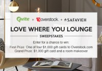 Evite Love Where You Lounge Sweepstakes
