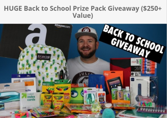 HUGE Back To School Prize Pack Giveaway