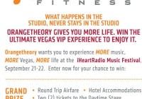 Orangetheory Fitness iHeartRadio Music Festival Flyaway Sweepstakes