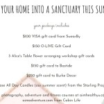 Summer Home Sanctuary Giveaway