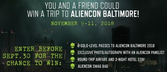 Aliencon Baltimore Galactic Sweepstakes