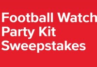 Coca Cola Football Watch Party Kit Sweepstakes