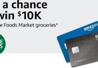 Amazon Visa Card $10K Groceries Sweepstakes