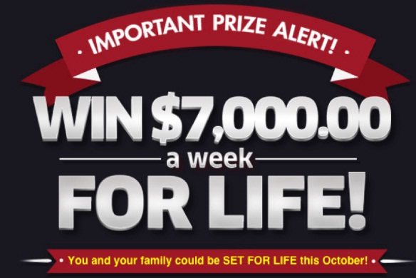 PCH $7,000 A Week For Life Sweepstakes