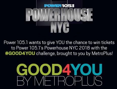 Power 105.1 MetroPlus Powerhouse NYC Sweepstakes