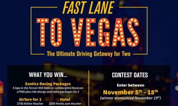 Cloud 9 Living Fast Lane To Vegas Contest