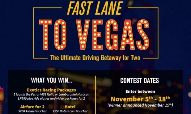 Cloud 9 Living Fast Lane To Vegas Contest