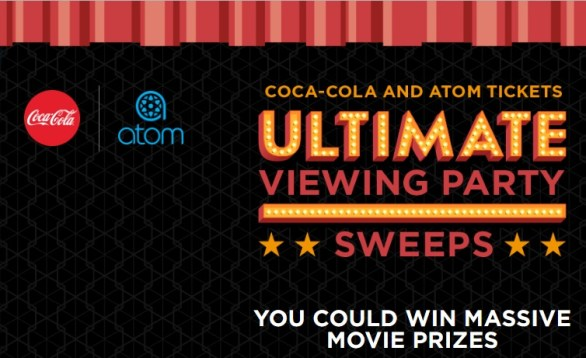Coca Cola And Atom Tickets Ultimate Viewing Party Sweepstakes