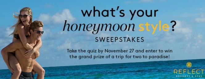 David's Bridal And AM Resorts Honeymoon Quiz Sweepstakes