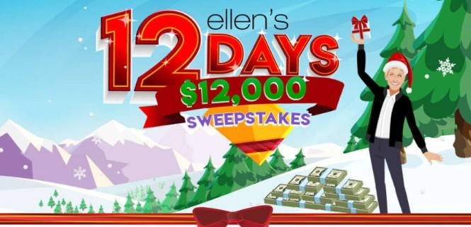 Ellen Shop 12 Days $12K Sweepstakes