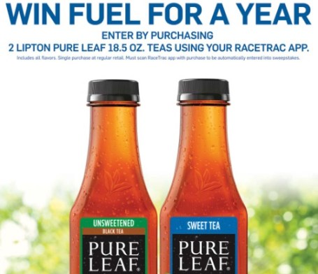 Pepsi Pure Leaf/Racetrac Fuel For A Year Sweepstakes