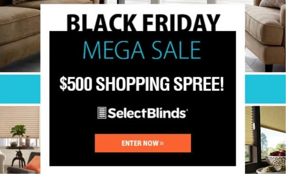Select Blinds Black Friday Sweepstakes