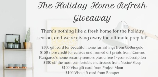 The Holiday Home Refresh Giveaway