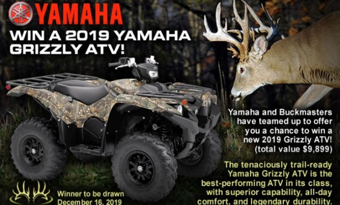 Buckmasters Yamaha Grizzly ATV Sweepstakes