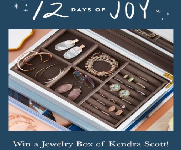 Kendra Scott 12 Days Of Joy Sweepstakes