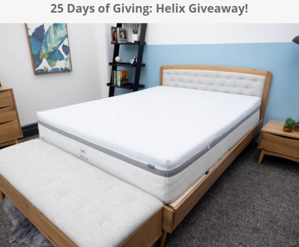 Sleepopolis 25 Days Of Giving Helix Mattress Giveaway
