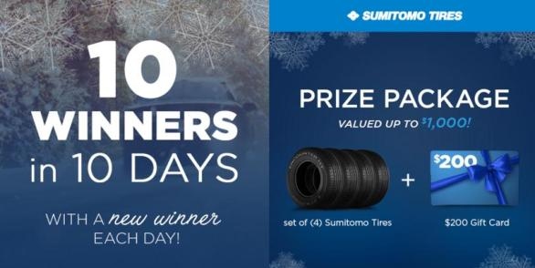TBC 10 Days Of Winter Winnings Sweepstakes